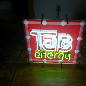 Tab Energy neon sign help - Signs