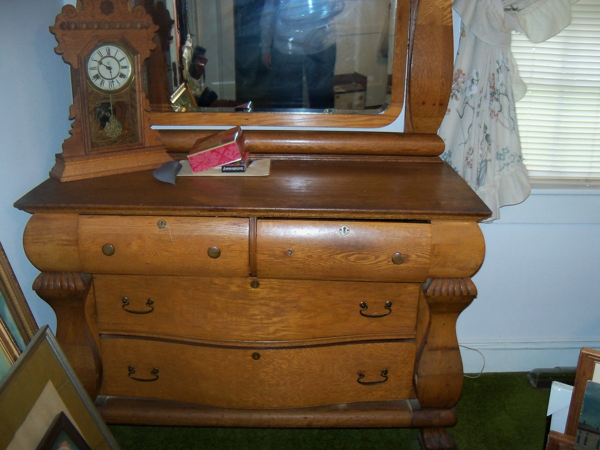 Antique Oak Dresser Mirror 1880 S Collectors Weekly