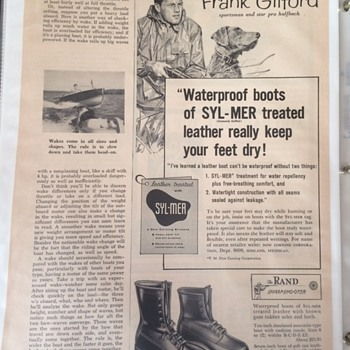 FRANK GIFFORD SPORTSMAN AND PRO HALFBACK HOF - Advertising