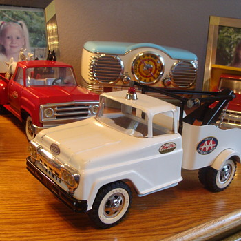 Sharing my 1950 Tonka AA Tow Truck Survivor! - Model Cars