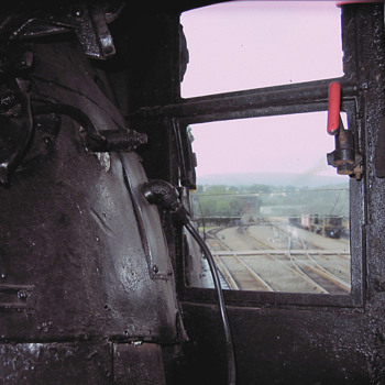 Engineer's View from 4012's Cab - Railroadiana