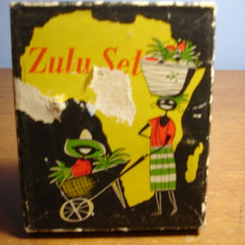 ZULU African set -  bottle opener and ashtray..Please help.
