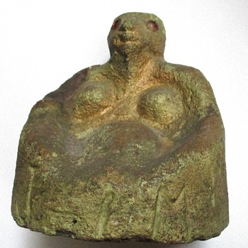Memphis, TN Antique African-American Folk Art Sculpture  of a Pregnant Woman - Fine Art