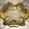 Vintage Murano Barovier & Toso gold leaf Bulicante and 2 Cranberry & White Cellini Biomorph