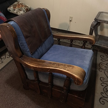 Antique Platform Wooden Rocking Chair - Furniture