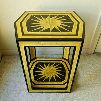 Awesome Mid Century Modern Hand-Painted Sun Motif Table - Mid-Century Modern