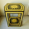 Awesome Mid Century Modern Hand-Painted Sun Motif Table