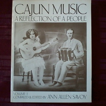 "Book""Cajun Music, A Reflection of a People"",with note signed by author Ann Savoy. - Books"
