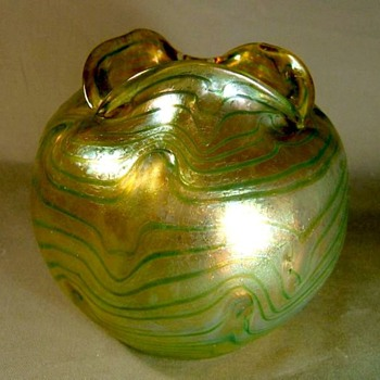 Fritz Heckert Silberband  - Art Glass