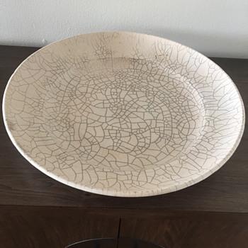 Vintage Large Raku-Fired Bowl - Asian