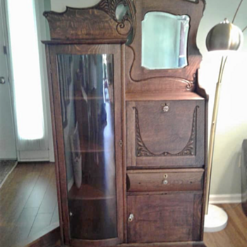 Looking for information on this Drop Front Secretary side by side Curio  - Furniture