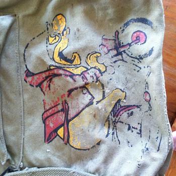 WW 2 emblem on a 1943 backpack