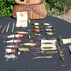 Fishing Creel Full Of Vintage Wooden Lures Flea Market Find(right side)