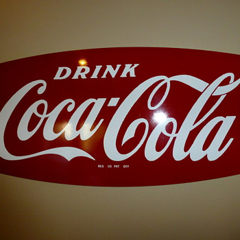 """50's?? Fishtail Rack sign - Coca-Cola"
