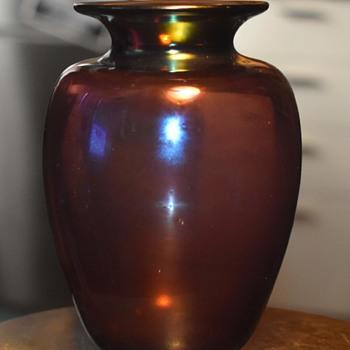 Irridescent Glass Vase by Sherburne Slack - Art Glass