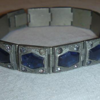 Antique Art Deco Bracelet Blue Stones