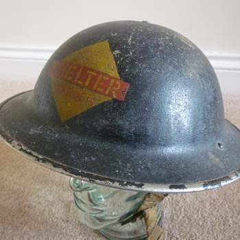 British WWII Wardens steel helmet