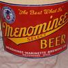 Old Michigan porcelain beer sign