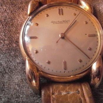 Father's antique IWC 18 karat gold watch