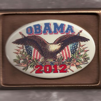 Limited Edition Political Belt Buckle with Pinback Button