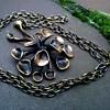 1970s Hannu Ikonen Reindeer Moss Bronze Pendant & Chain, Made In Finland-Thrift Shop Find, $1.50!!!