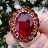D and E Ruby Brooch