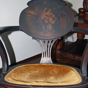 Rocking chair from late 1800's or early 1900's.