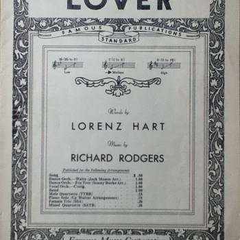 """Lover"" Sheet Music - Paper"