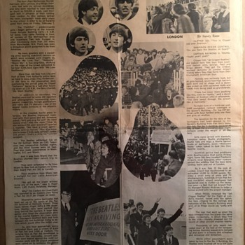 Paul & Ringo signed Pan Am Newspaper-Spring 1964 - Music Memorabilia