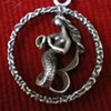 Aquarius 835 Silver Mermaid w/Urn Pendant Flea Market Find 2 Euro ($2.16)
