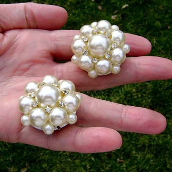 Vintage Statement Earrings - Costume Jewelry