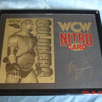 WCW Nitro Card 22kt Gold Goldberg