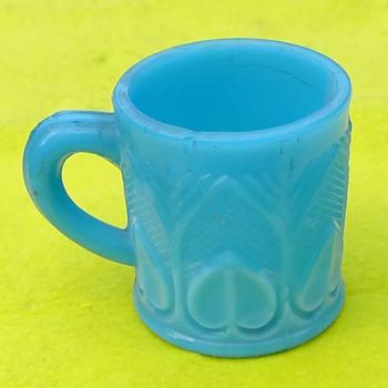 Small milk glass mug  - Glassware