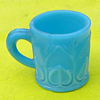 Small milk glass mug