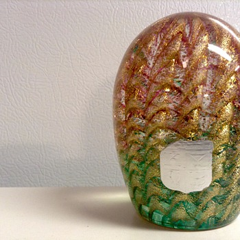 1960's-70s Barovier and Toso Glass Paper Weight