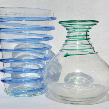 Blenko - various swirl vases - Art Glass