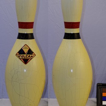 Vulcan Corp. White Diamond Bowling Pin, White Finish - Sporting Goods