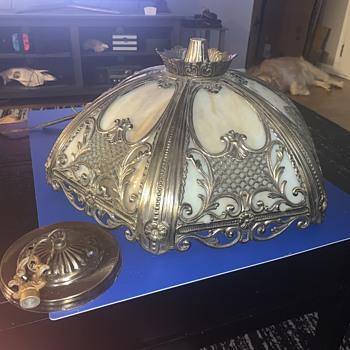 VINTAGE GIM 3272 METAL CUT OUT LAMP SHADE FRAME - Art Nouveau