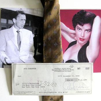 Frank Sinatra/Ava Gardner . . . Personal Items