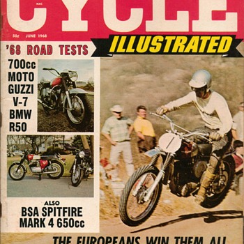 "1968 - ""Cycle Illustrated"" Magazine (1st Issue) - Paper"