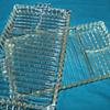 Antique Heavy Glass SANDWICH PLATE 3 Segment Ribbed Condiment Divider
