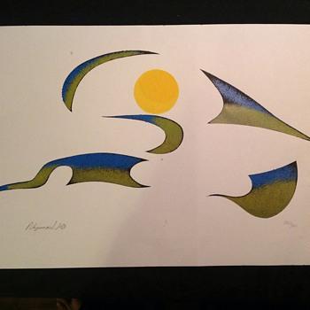 Russel Noganosh signed print 282/300