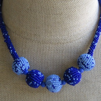 1920's-30's home-craft beaded necklace - Costume Jewelry