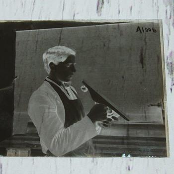 Glass Negatives Circa 1909 Instructional Carpentry Book Slides - Photographs