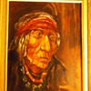 Robert Freeman oil painting of Sioux Indian