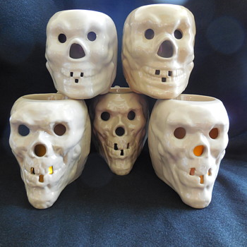 3 Tepco Pottery Skull Mugs found at the Flea Market on Sunday - Pottery