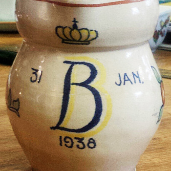 Queen Beatrix of the Netherlands 1938 Pitcher - Pottery