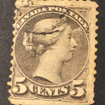 Old Canada stamp  - Stamps