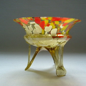 Czech Art Deco Bowl - Art Glass