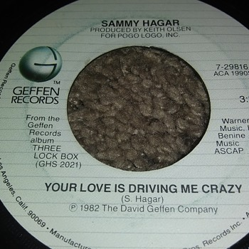 Sammy Hagar...On 45 RPM Vinyl - Records